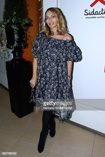 Alexandra Golovanoff attends the Sidaction Gala Dinner 2017 Haute Couture Spring Summer 2017 show as part of Paris Fashion Week on January 26 2017 in...