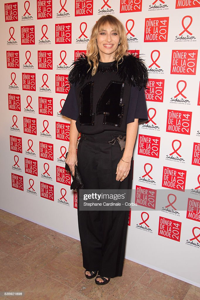 Alexandra Golovanoff attends the Sidaction Gala Dinner at Pavillon d'Armenonville, in Paris.