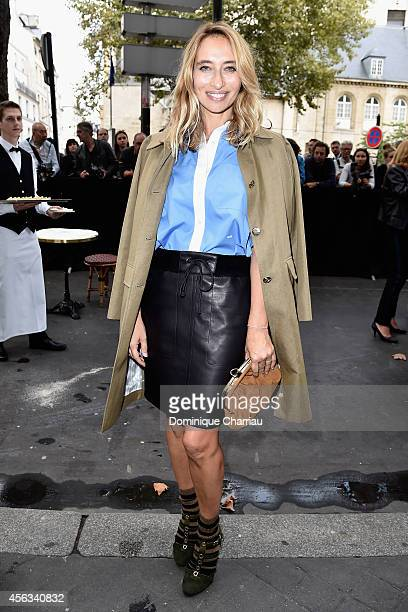 Alexandra Golovanoff attends the Sonia Rykiel show as part of the Paris Fashion Week Womenswear Spring/Summer 2015 on September 29 2014 in Paris...