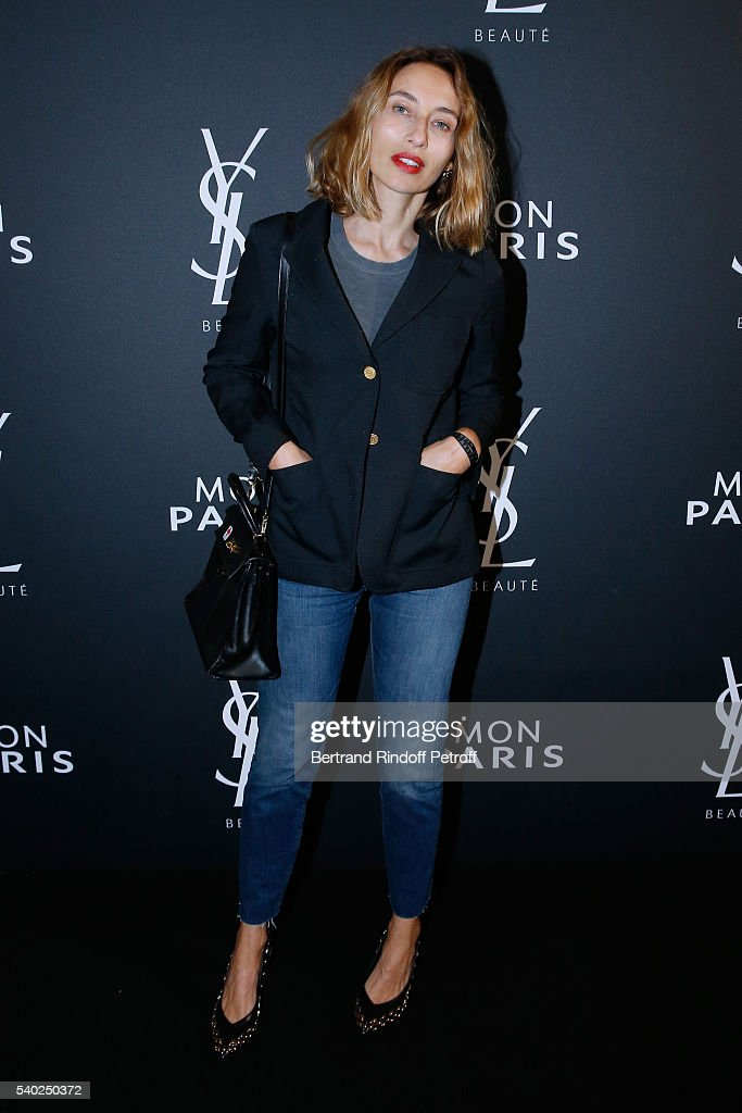 Alexandra Golovanoff attends YSL Beauty launches the new Fragrance 'Mon Paris' at Cafe Le Georges on June 14, 2016 in Paris, France.