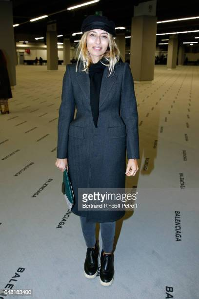Alexandra Golovanoff dressed in Balenciaga attends the Balenciaga show as part of the Paris Fashion Week Womenswear Fall/Winter 2017/2018 Held at...