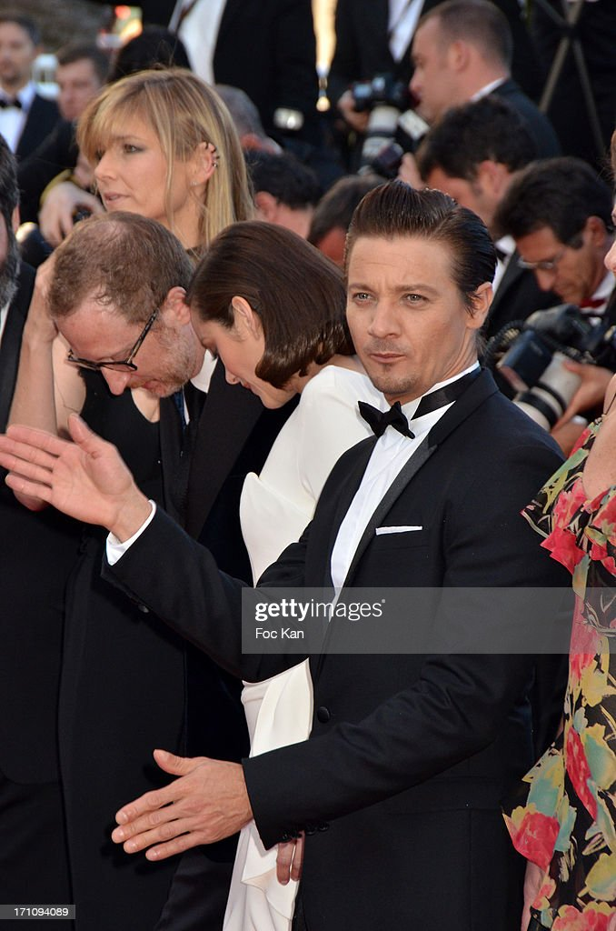 Alexandra Gray, James Gray, Marion Cotillard and Jeremy Renner attend 'The Immigrant' Premiere during the 66th Annual Cannes Film Festival at Grand Theatre Lumiere on May 24, 2013 in Cannes, France.