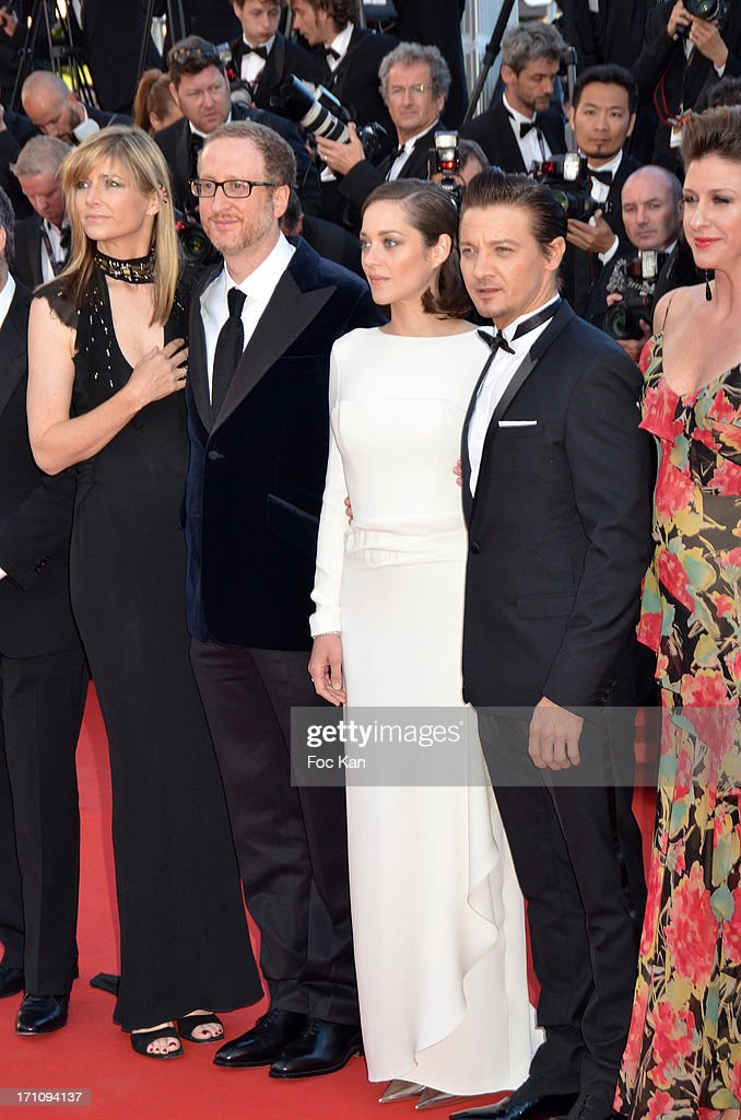 Alexandra Gray, James Gray, Marion Cotillard, Jeremy Renner and a guest attend 'The Immigrant' Premiere during the 66th Annual Cannes Film Festival at Grand Theatre Lumiere on May 24, 2013 in Cannes, France.