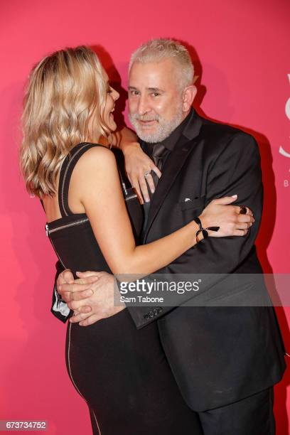 Alexandra Hankel and Anthony LaPaglia arrives at Meat Market as YSL Beauty Club Takes Over Melbourne on April 27 2017 in Melbourne Australia