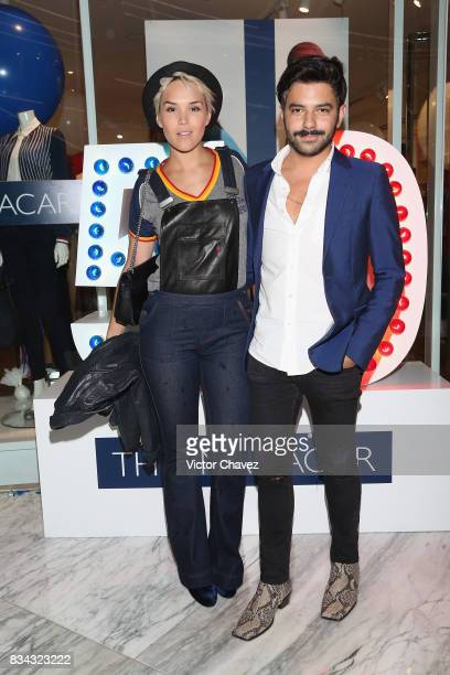 Alexandra Ivanisevic and guest attend the Tommy Hilfiger Mexico City store opening at Torre Manacar on August 17 2017 in Mexico City Mexico