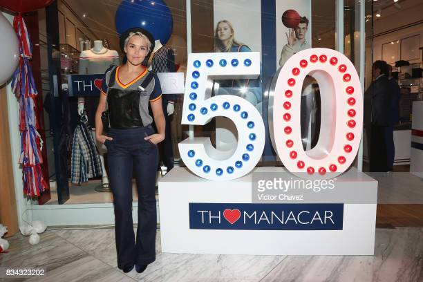 Alexandra Ivanisevic attends the Tommy Hilfiger Mexico City store opening at Torre Manacar on August 17 2017 in Mexico City Mexico