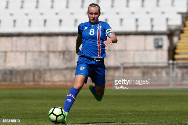 Alexandra Jhannsdttir of Iceland during the UEFA U17 Women's Championship Qualifier match between Iceland and Sweden at National stadium on March 28...