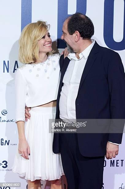 Alexandra Jimenez and Karra Elejalde attend '100 Metros' premiere at Capitol cinema on November 2 2016 in Madrid Spain