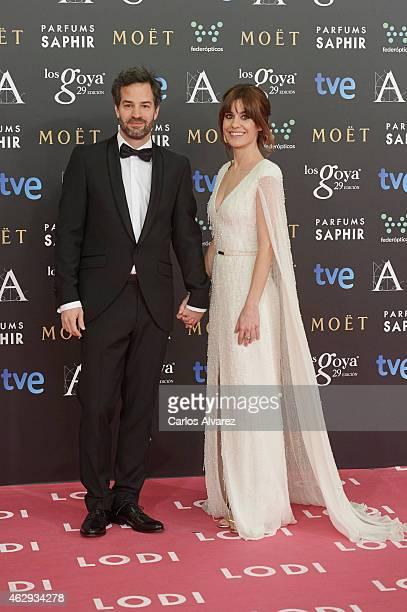 Alexandra Jimenez and Luis Rayo attends Goya Cinema Awards 2014 at Centro de Congresos Principe Felipe on February 7 2015 in Madrid Spain