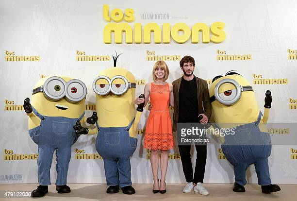 Alexandra Jimenez and Quim Gutierrez attend a photocall for 'The Minions' at the Hesperia Hotel on July 1 2015 in Madrid Spain