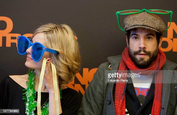 Alexandra Jimenez and Unax Ugalde attend No controles photocall at Palafox Cinema on December 28 2010 in Madrid Spain