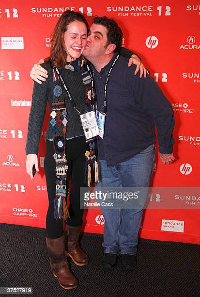 Alexandra Johnes and director Eugene Jarecki attend 'The House I Live In' Premiere at the Temple Theatre during the 2012 Sundance Film Festival on...