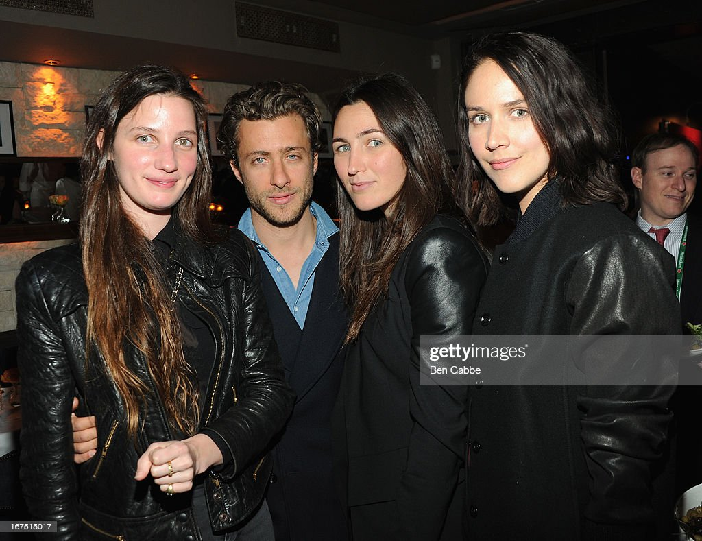 Alexandra Kaging, Francesco Carrazini, Catherine Kaging and Emily Pero attend the Out of Print Tribeca Film Festival After Party on April 25, 2013 in New York City.