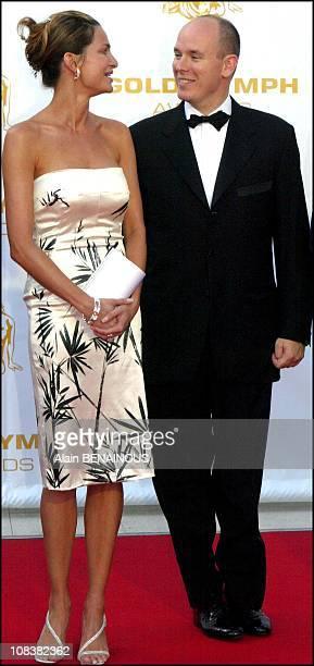 Alexandra Kamp and Albert of Monaco in France on July 06 2002