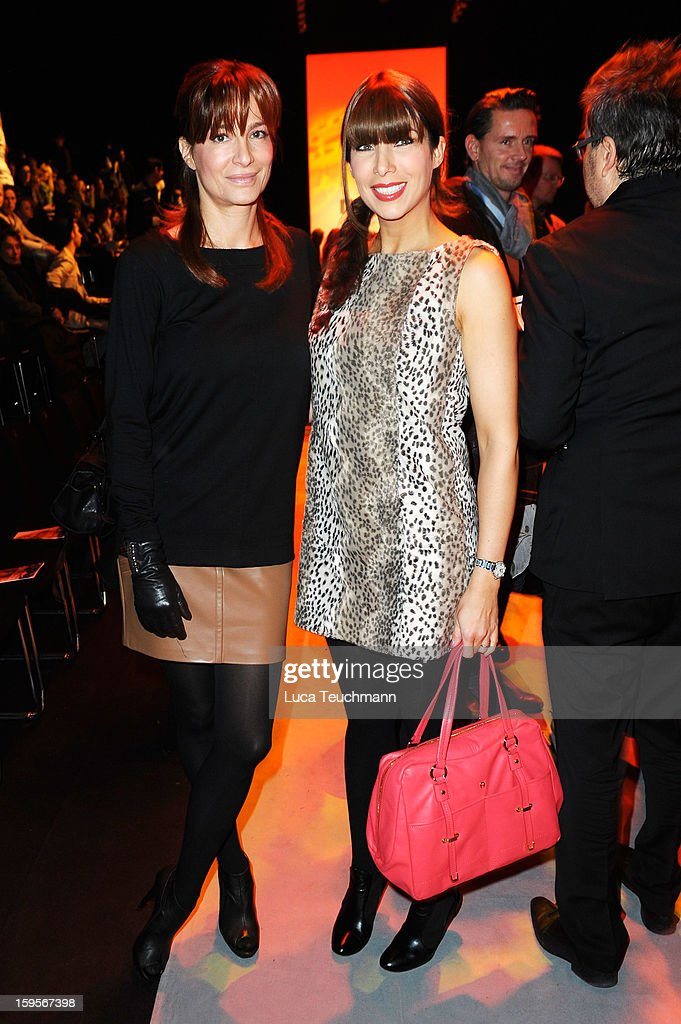 Alexandra Kamp and Alexandra Polzin attend Minx By Eva Lutz Autumn/Winter 2013/14 fashion show during Mercedes-Benz Fashion Week Berlin at Brandenburg Gate on January 16, 2013 in Berlin, Germany.