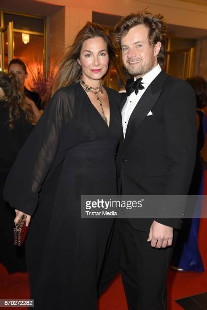 Alexandra Kamp and her boyfriend Michael von Hassel attend the Leipzig Opera Ball on November 4 2017 in Leipzig Germany