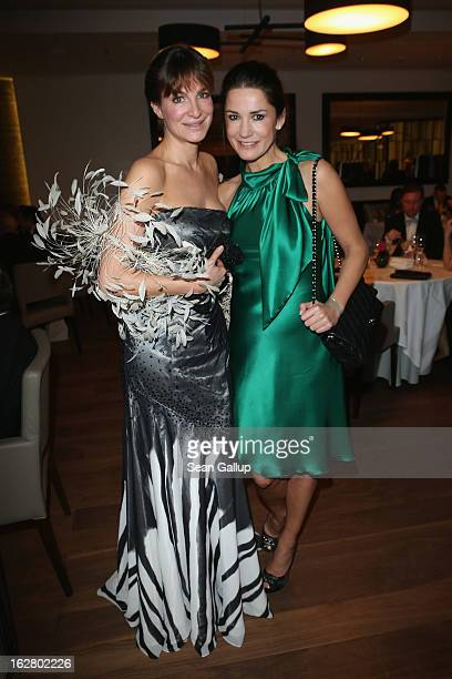 Alexandra Kamp and Mariella Ahrens attend the grand opening of the Waldorf Astoria Berlin hotel on February 27 2013 in Berlin Germany