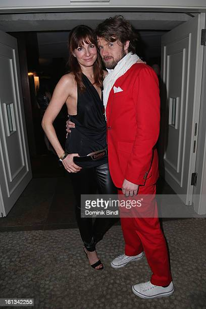 Alexandra Kamp and Michael von Hassel attend the Gala Star Night during the 63rd Berlinale International Film Festival at the Stue Hotel on February...