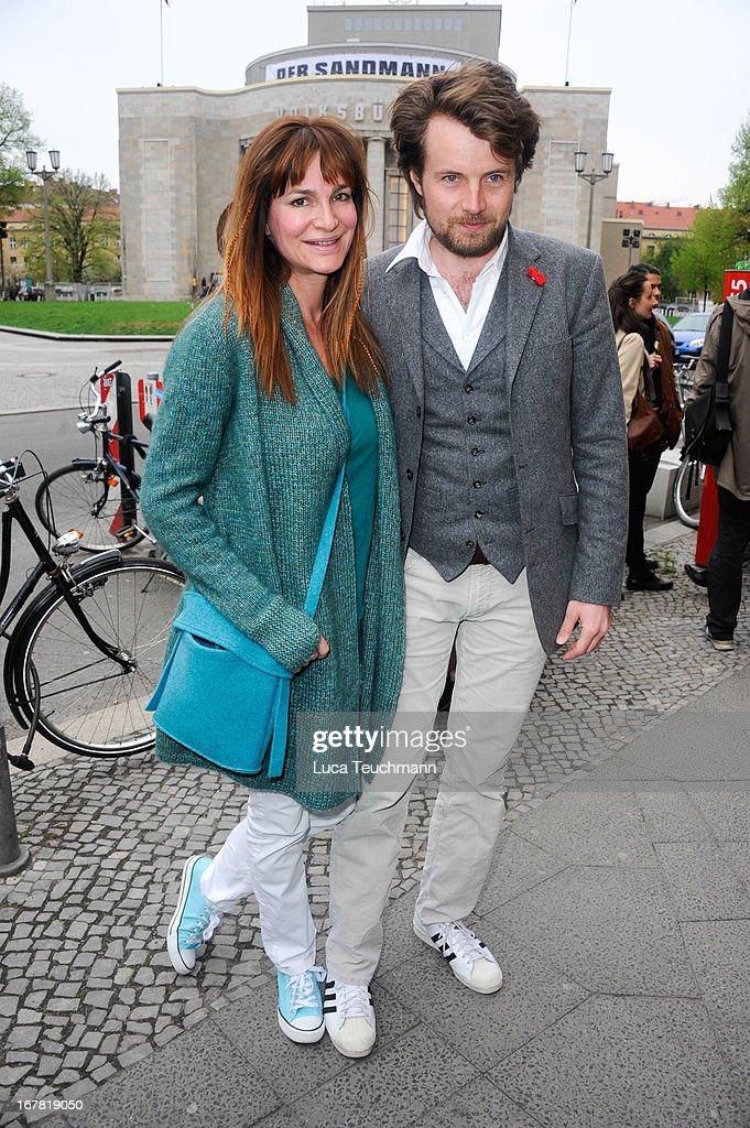 Alexandra Kamp and Michael von Hassel attend the premiere of 'Helene Fischer 'Allein im Licht' at Babylon on April 30, 2013 in Berlin, Germany.