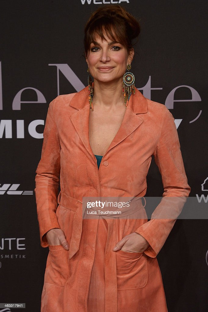 Alexandra Kamp arrives for the Michalsky Style Night during MercedesBenz Fashion Week Autumn/Winter 2014/15 at Tempodrom on January 17 2014 in Berlin...