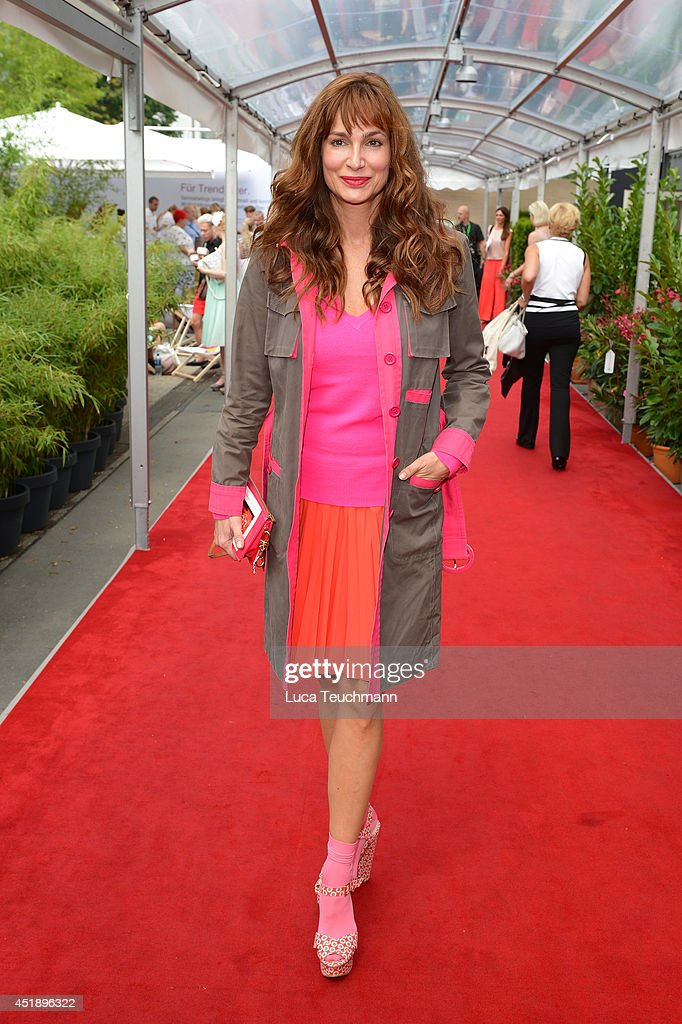 Alexandra Kamp attends the Minx by Eva Lutz show during the MercedesBenz Fashion Week Spring/Summer 2015 at Erika Hess Eisstadion on July 9 2014 in...