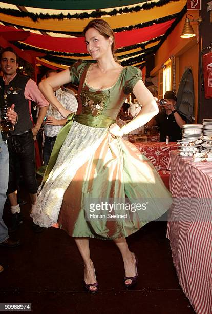 Alexandra Kamp attends the Oktoberfest 2009 at Hippodrom at the Theresienwiese on September 20 2009 in Munich Germany Oktoberfest is the world's...