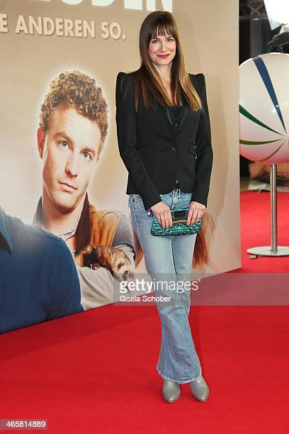Alexandra Kamp attends the premiere of the film 'Vaterfreuden' at Mathaeser Filmpalast on January 29 2014 in Munich Germany