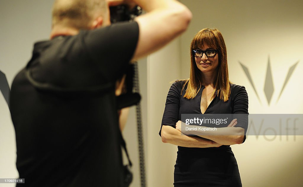 <a gi-track='captionPersonalityLinkClicked' href=/galleries/search?phrase=Alexandra+Kamp&family=editorial&specificpeople=875133 ng-click='$event.stopPropagation()'>Alexandra Kamp</a> poses during a photocall of 'SOKO Stuttgart' TV Series on June 20, 2013 in Stuttgart, Germany.