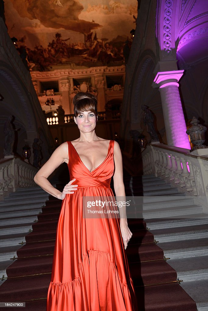 Alexandra Kamp poses during the Minx fashion night at Residenz on October 12 2013 in Wuerzburg Germany The benefit of the charity gala is for the aid...