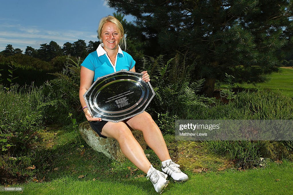 Alexandra Keighley of Huddersfield Golf Club pictured after winning the Glenmuir WPGA Professional Championship at Carden Park Golf Club on August 10, 2012 in Chester, England.