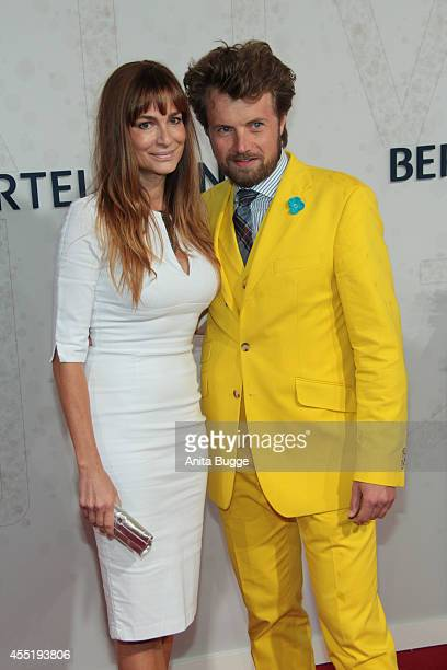 Alexandra Kemp and Michael von Hassel attend the Bertelsmann Summer Party at the Bertelsmann representative office on September 10 2014 in Berlin...