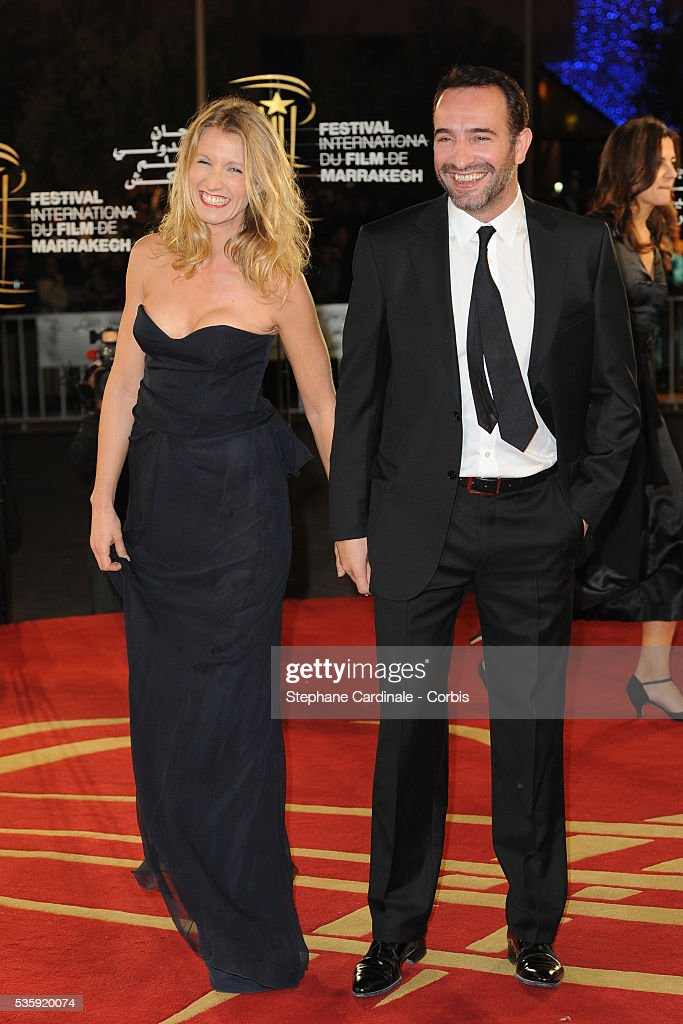 Alexandra Lamy and Jean Dujardin attend the Opening Ceremony of the Marrakech 10th Film Festival.