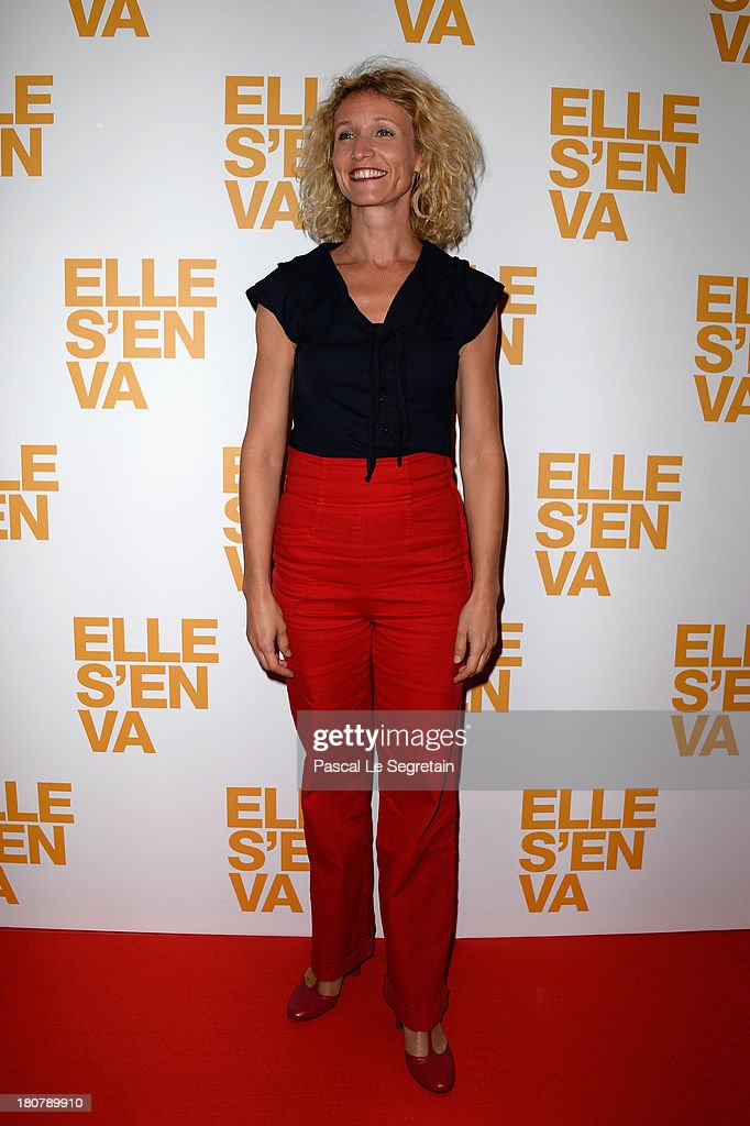 <a gi-track='captionPersonalityLinkClicked' href=/galleries/search?phrase=Alexandra+Lamy&family=editorial&specificpeople=538442 ng-click='$event.stopPropagation()'>Alexandra Lamy</a> attends 'Elle S'en Va' Paris Premiere at Cinema l'Arlequin on September 16, 2013 in Paris, France.
