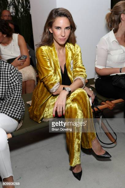 Alexandra Lapp attends the Dorothee Schumacher show during the MercedesBenz Fashion Week Berlin Spring/Summer 2018 at Kaufhaus Jandorf on July 6 2017...