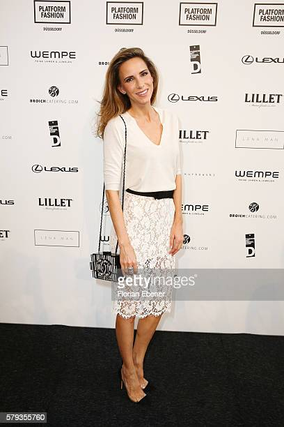 Alexandra Lapp attends the Fashion Net Presents Duesseldorf Designers show during Platform Fashion July 2016 at Areal Boehler on July 23 2016 in...