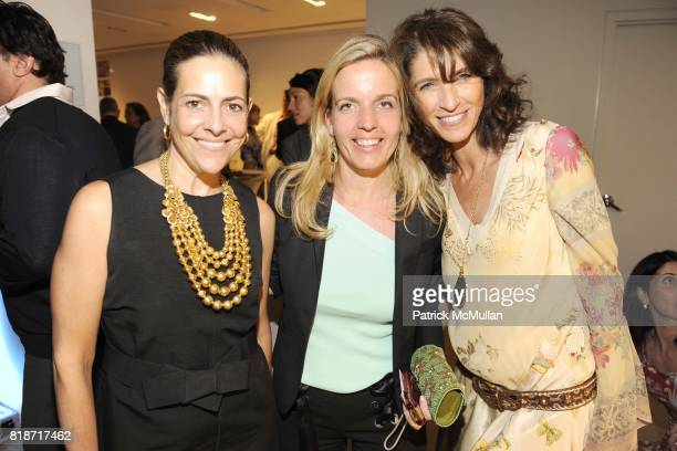 Alexandra Lebenthal Gabi Garzoni and Caroline Salama attend HAMPTON SHEET/LaSEVEN Spring Into Summer Party at Waterworks on June 22 2010 in New York...