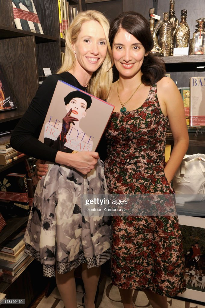 Alexandra Leighton (L) and Berenice Vila Baudry attend Martine and Prosper Assouline host book signing for author Berenice Vila Baudry's 'French Style' with the Ambassador of France Francois Delattre at Assouline at The Plaza Hotel on July 9, 2013 in New York City.