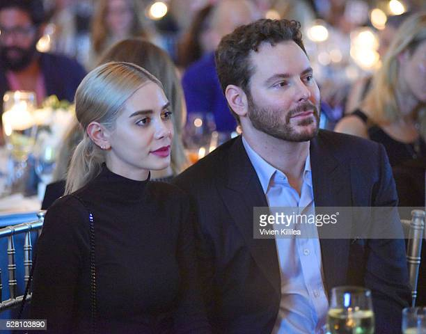 Alexandra Lenas and Sean Parker attend the Berggruen Institute 5 Year Anniversary Celebration at The Beverly Wilshire on May 3 2016 in Los Angeles...
