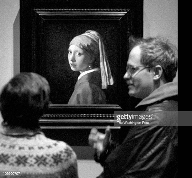 Alexandra Lowe and her husband David Lowe admire ' Girl with a pearl earring' Alexandra says ' he seldom gets up early' but he got up early for this...