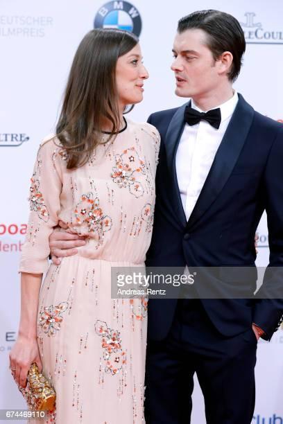 Alexandra Maria Lara and her husband Sam Riley attend the Lola German Film Award red carpet at Messe Berlin on April 28 2017 in Berlin Germany
