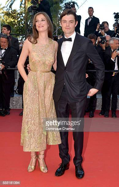 Alexandra Maria Lara and husband Sam Riley attend the 'Elle' Premiere during the 69th annual Cannes Film Festival at the Palais des Festivals on May...