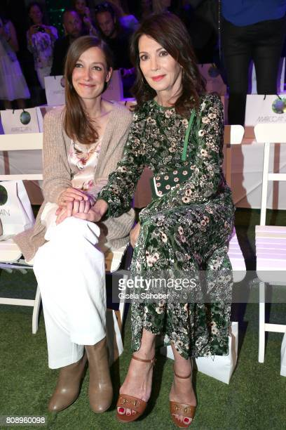Alexandra Maria Lara and Iris Berben during the Marc Cain Fashion Show Spring/Summer 2018 at ewerk on July 4 2017 in Berlin Germany