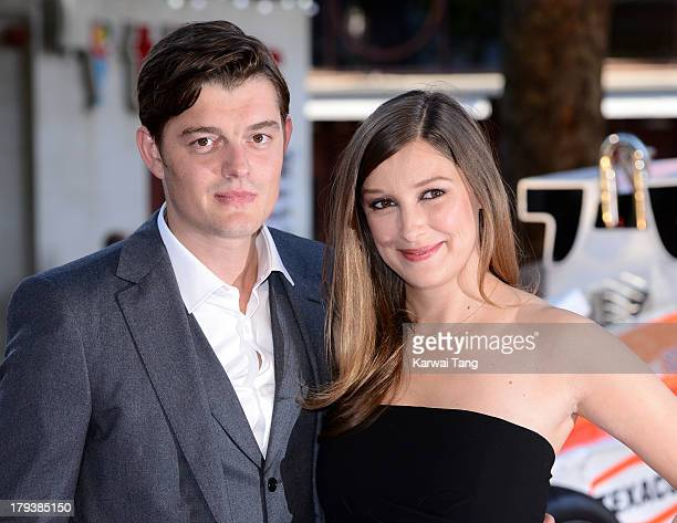 Alexandra Maria Lara and Sam Riley attend the World Premiere of 'Rush' at the Odeon Leicester Square on September 2 2013 in London England