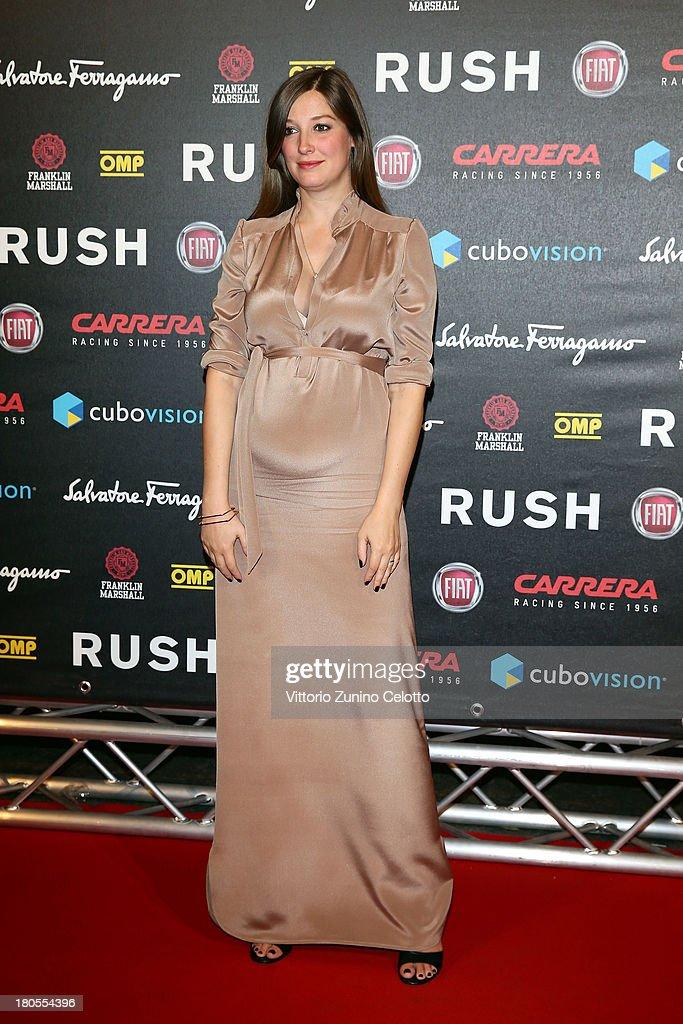 Alexandra Maria Lara attends 'Rush' The Movie Rome Premiere at Auditorium della Conciliazione on September 14, 2013 in Rome, Italy.