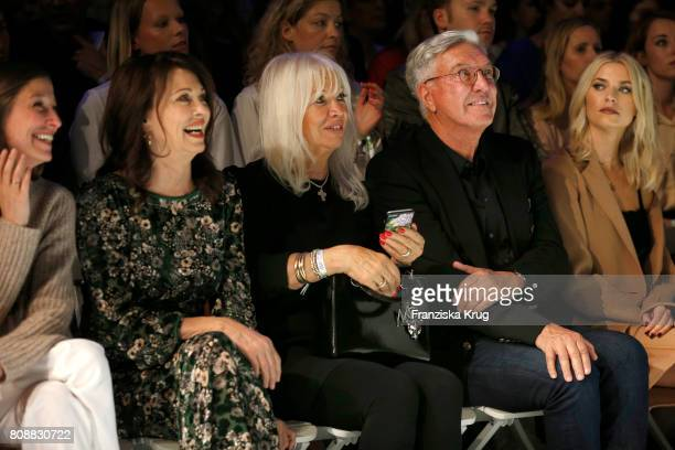 Alexandra Maria Lara Iris Berben Ute Schlotterer Helmut Schlotterer and Lena Gercke attend the Marc Cain Fashion Show Spring/Summer 2018 at ewerk on...