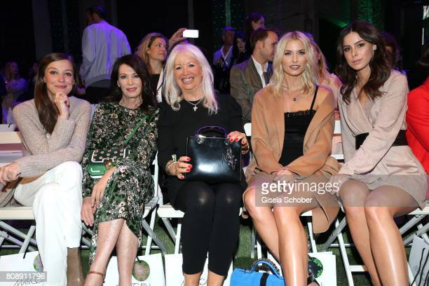 Alexandra Maria Lara Iris Berben Ute Schlotterer Lena Gercke and Lena MeyerLandrut front row during the Marc Cain Fashion Show Spring/Summer 2018 at...