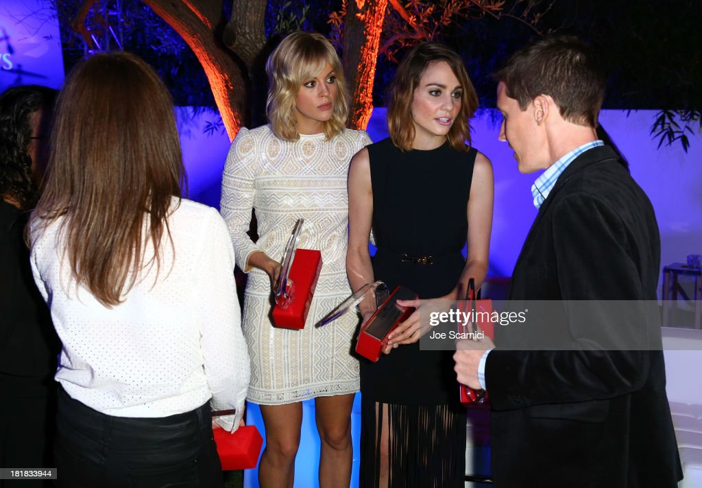 Alexandra McGuinness, Georgia King, Tuppence Middleton and Ed Whitworth attend British Airways and Variety Celebrate The Inaugural A380 Service Direct from Los Angeles to London and Discover Variety's 10 Brits to Watch on September 25, 2013 in Los Angeles, California.