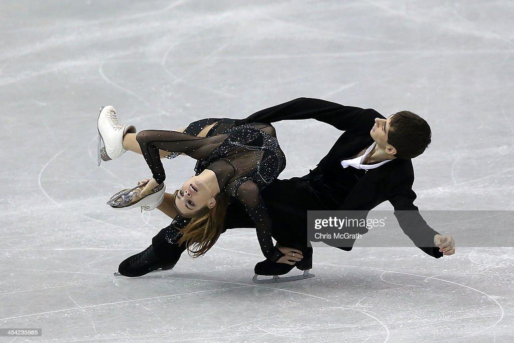 Alexandra Nazarova and Maxim Nikitin of the Ukraine compete in the Junior Ice Dance Free Dance Final during day four of the ISU Grand Prix of Figure Skating Final 2013/2014 at Marine Messe Fukuoka on December 8, 2013 in Fukuoka, Japan.