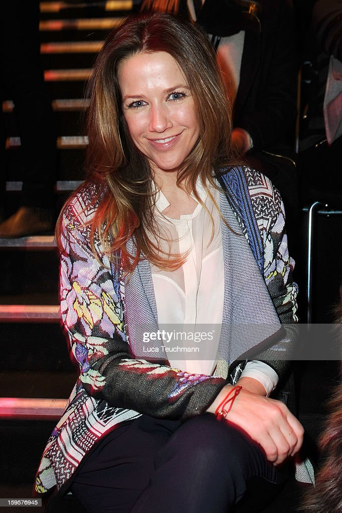 Alexandra Neldel attends Lala Berlin Autumn/Winter 2013/14 fashion show during Mercedes-Benz Fashion Week Berlin at Brandenburg Gate on January 16, 2013 in Berlin, Germany.