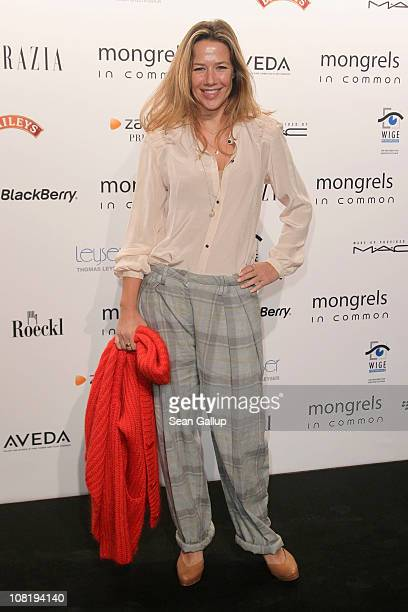 Alexandra Neldel attends the Mongrels in Common Show during the Mercedes Benz Fashion Week Autumn/Winter 2011 at Altes Stadthaus on January 20 2011...